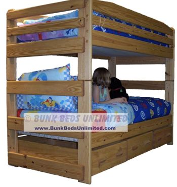 10 bunk bed plan stackable twin over twin with large for Beds unlimited