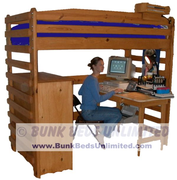 Permalink to how to build a full size loft bed with desk