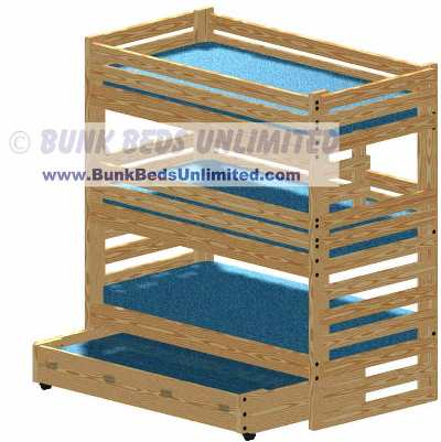plans for making a triple bunk bed