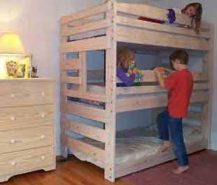 Bunk Bed Plans Picture Triple
